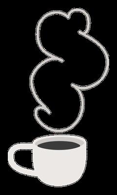 café fumant